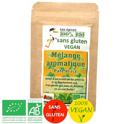 Epices Mélange aromatique pâtes et riz - Vegan - Bio sans gluten