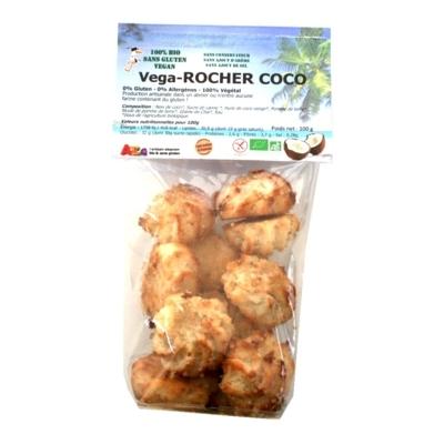 Rocher Noix de Coco - Vegan - Bio sans gluten - 0% allergène