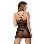 robe sexy noir resille arriere