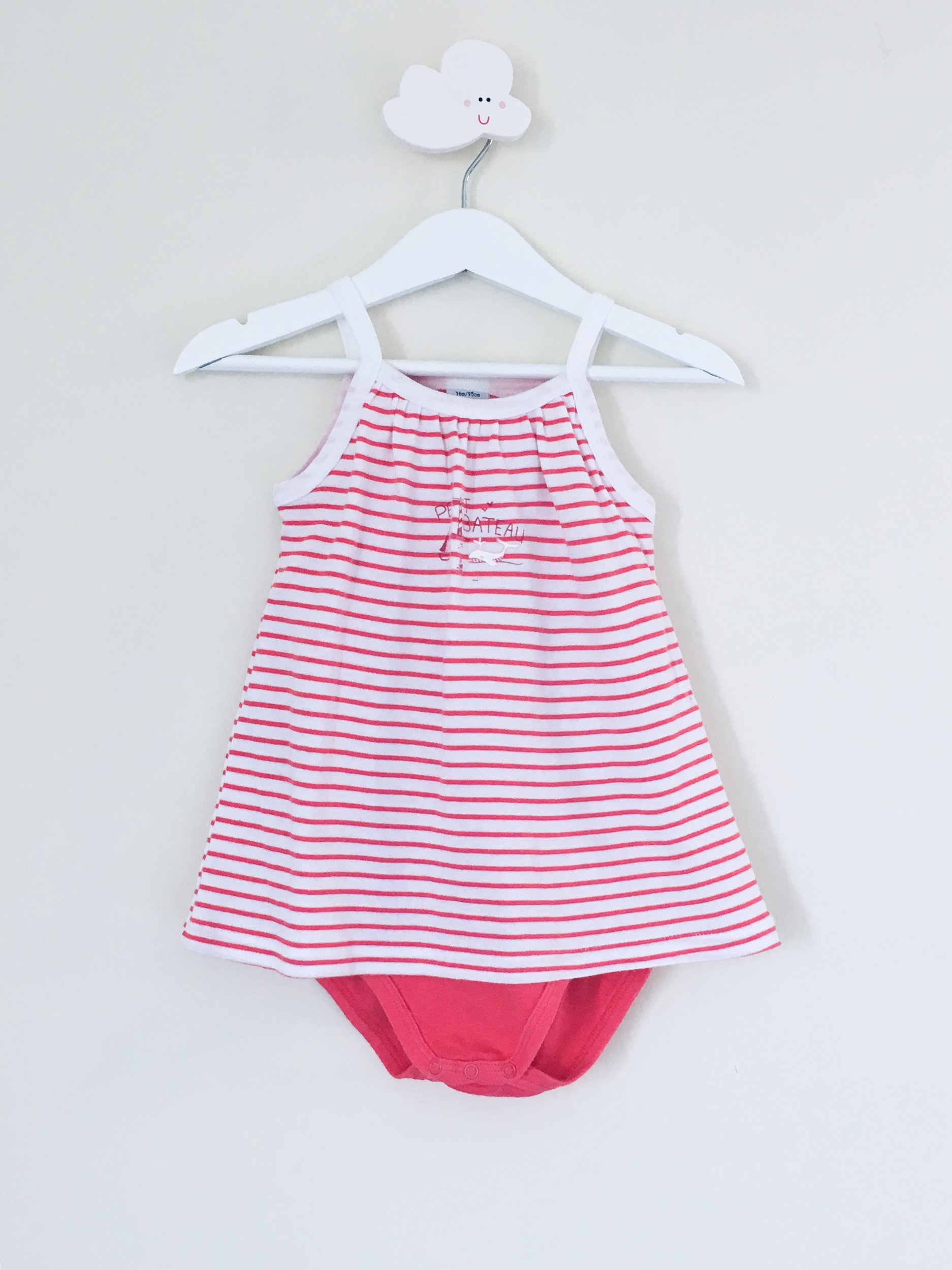 Petit Bateau Robe Body Integre 36 Mois Bebe Fille Robes Jupes Toupourlou