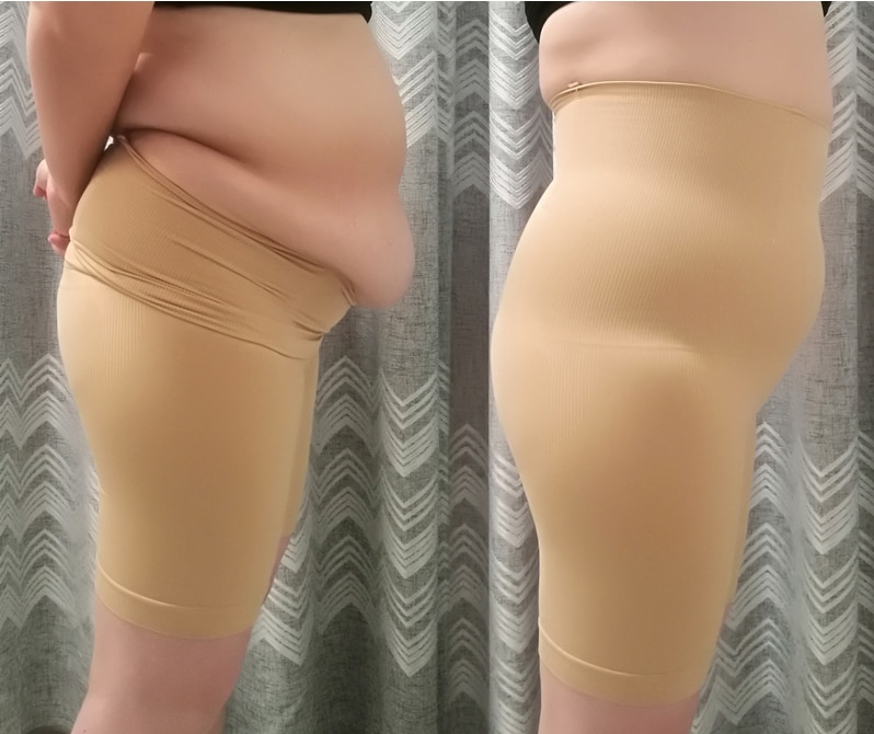 Leggings short ventre plat grande taille