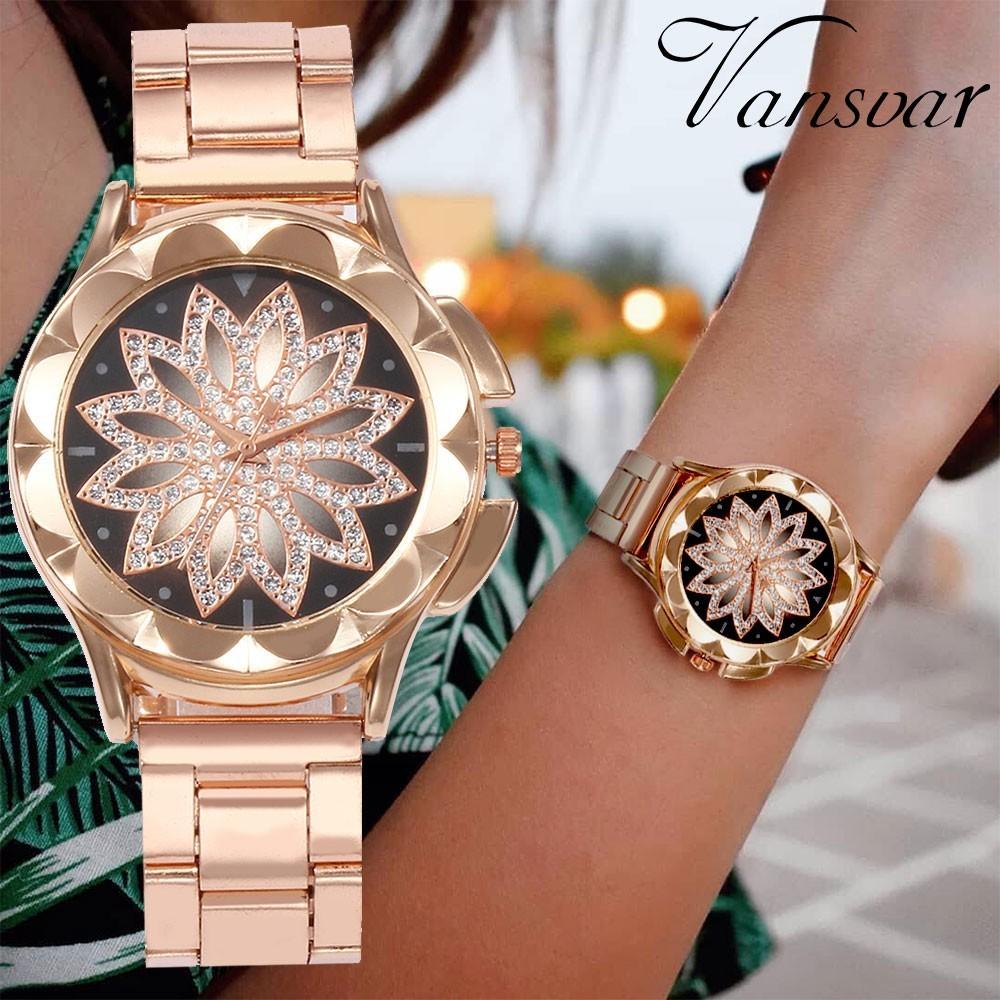 La montre Fleur diamants Design pour un style Raffiné et Pétillant.