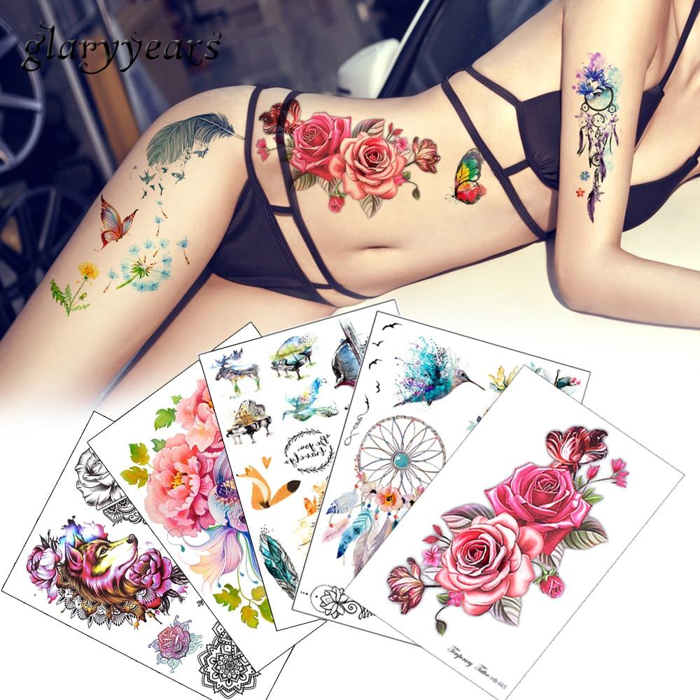 Tatouage temporaire - Inspiré du henné plusieurs planche moyen modèles
