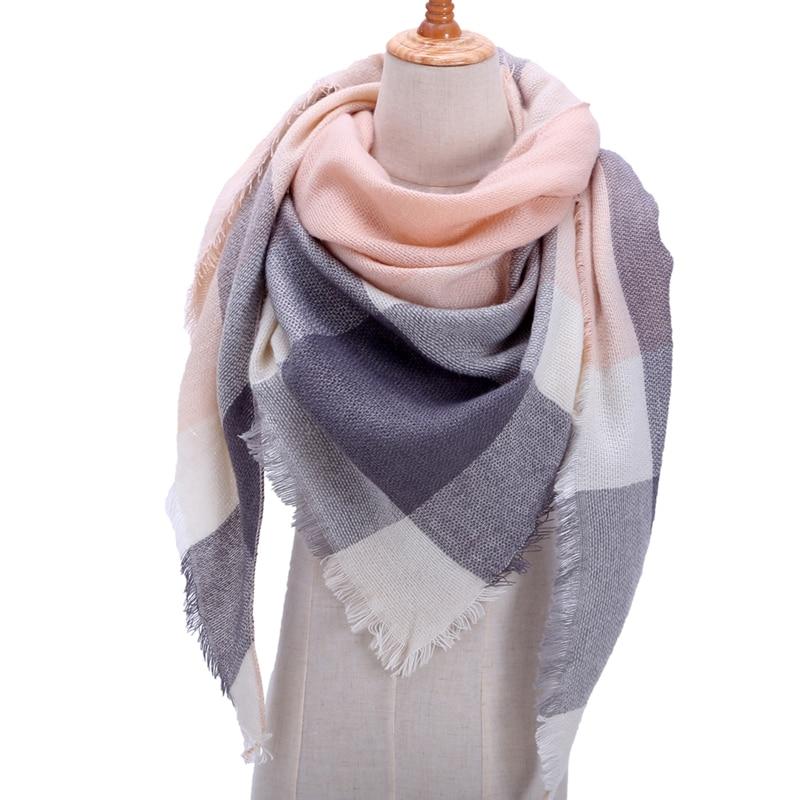 Collection 2019 printemps hiver écharpe, plaid chaud en cachemire de différents tons et motifs