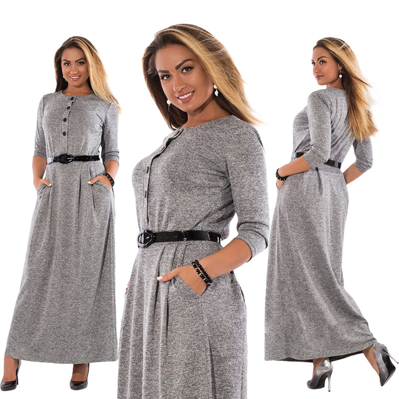 robe grande taille d'automne jusqu'au 6 xl