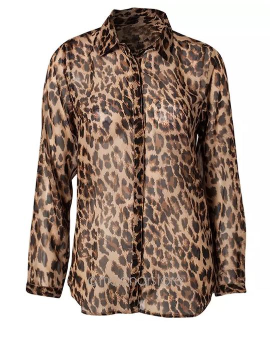 Chemise leopard grande taille