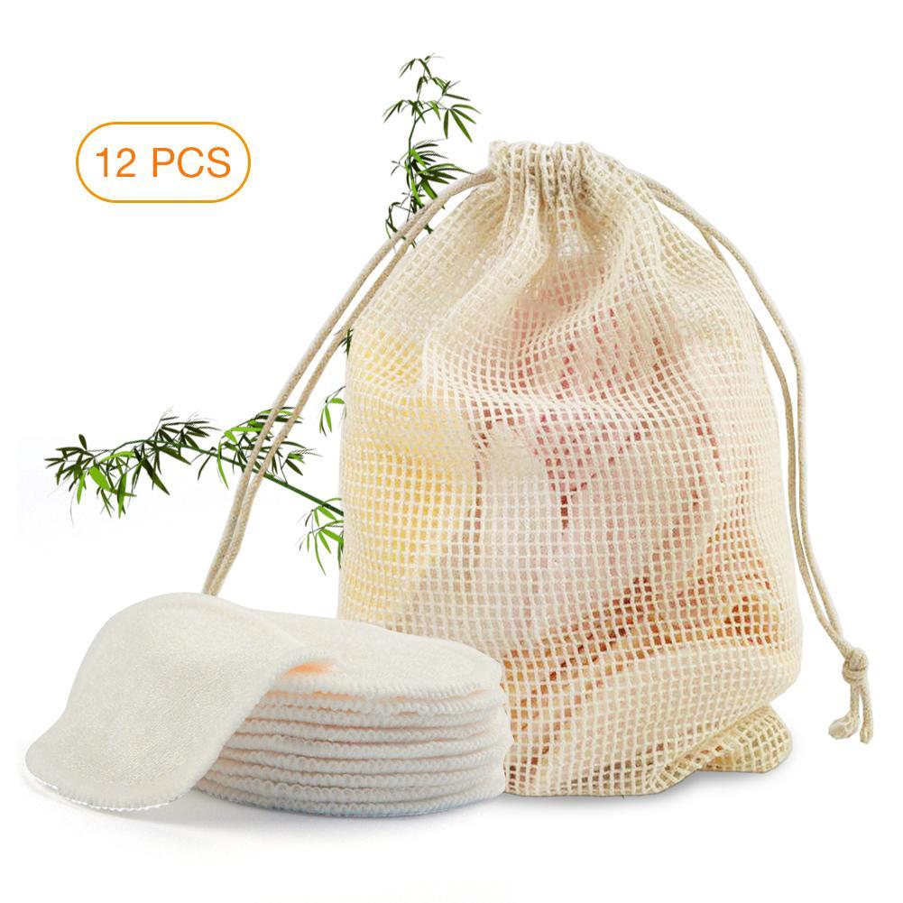 Coton démaquillant en fibre de Bambou naturelle lavable et réutilisable