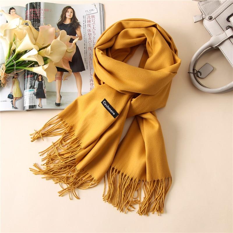 Écharpe en laine cachemere, grande taille et très chaude