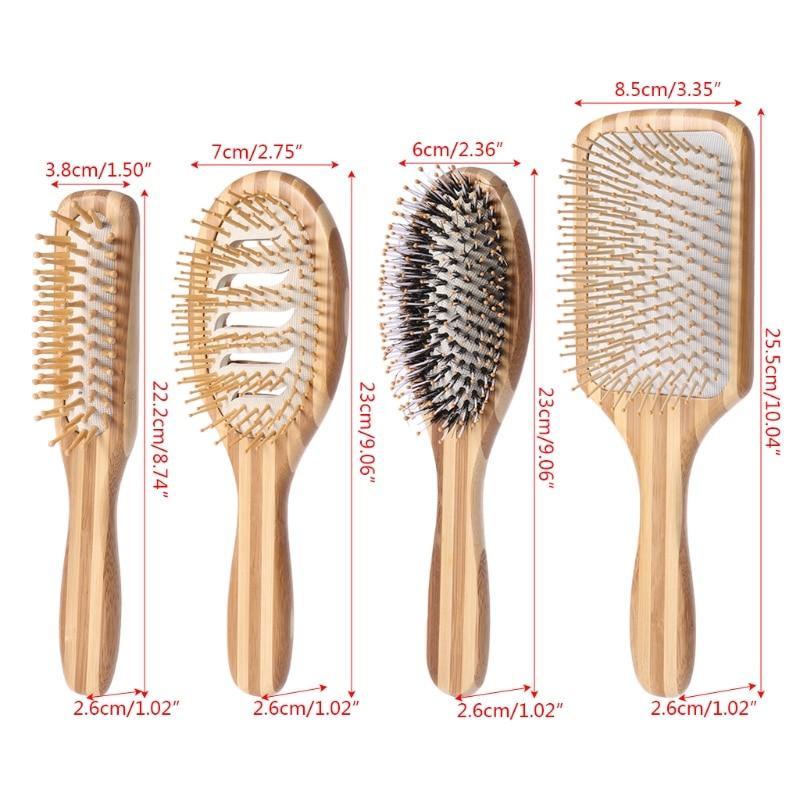 Brosse à cheveux en bambou naturel sans plastique !