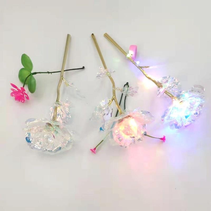Fleurs artificielles irisées or fin 24 carat pour la st valentin