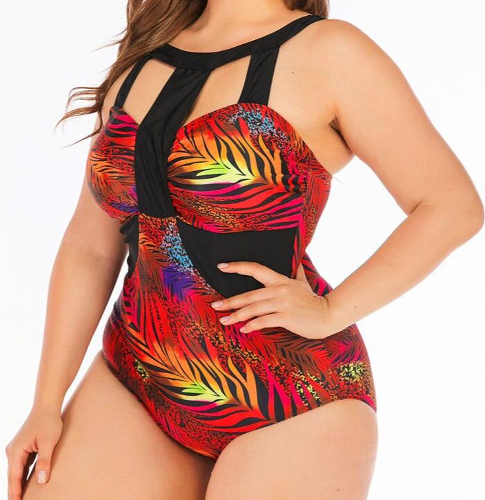 Bkning-maillot-de-bain-Tropical-grande-taille-maillot-de-bain-femmes-grosse-pi-ce-maillot-de