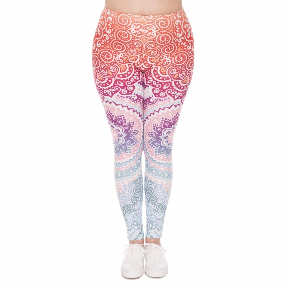 Legging mandala coloré grande taille