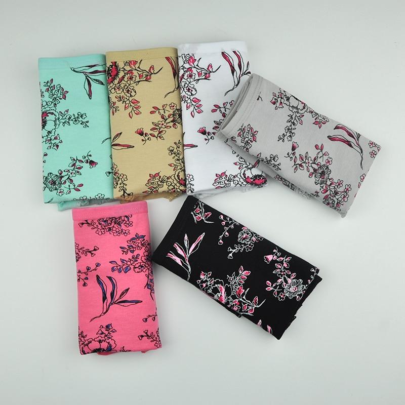 lot de 6 culotte femmes en Coton Imprimé floral et Dentelle XL, 2XL, 3XL