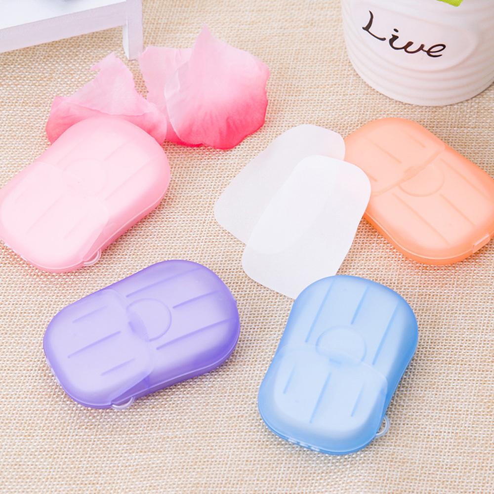 Feuille de savon en petite boite de transport
