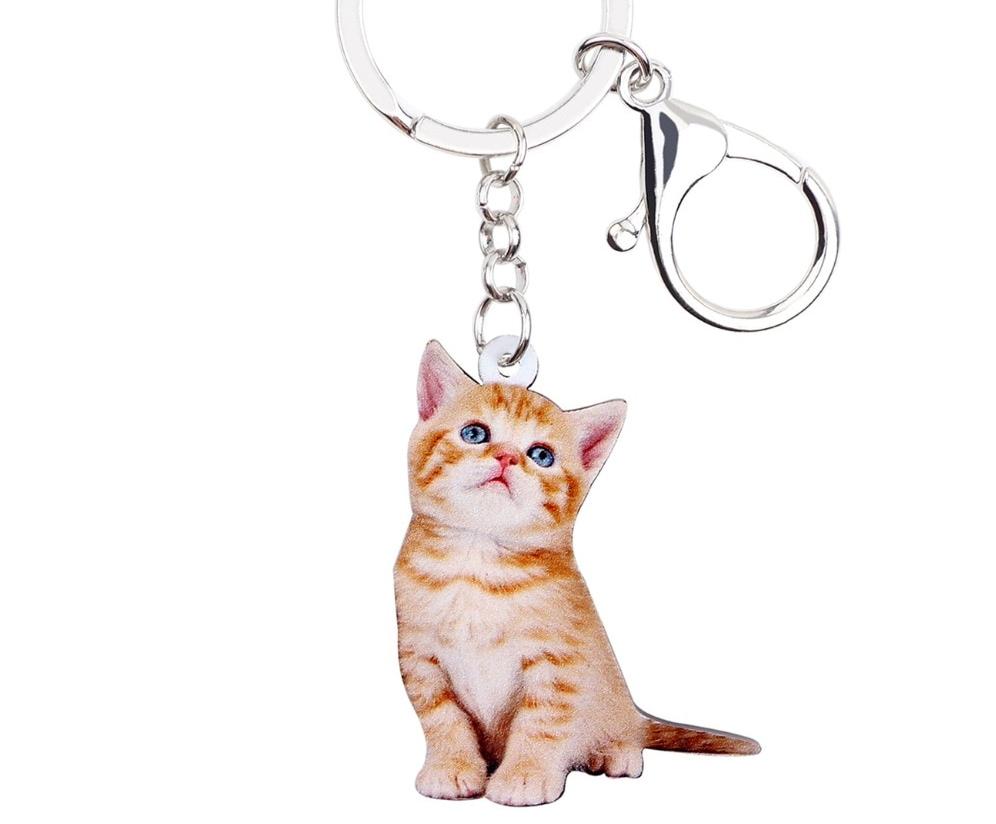 Porte clef en acrylique chaton très mignon