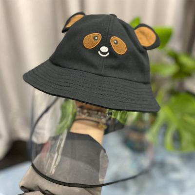 Chapeau panda avec protection pour enfants de 4 à 12 ans