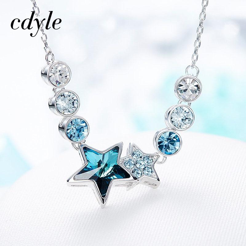 Collier étoile du zodiaque en cristal de swarovski et argent 925/1000