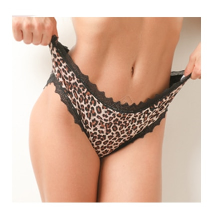 Culotte menstruelle grande taille panthère