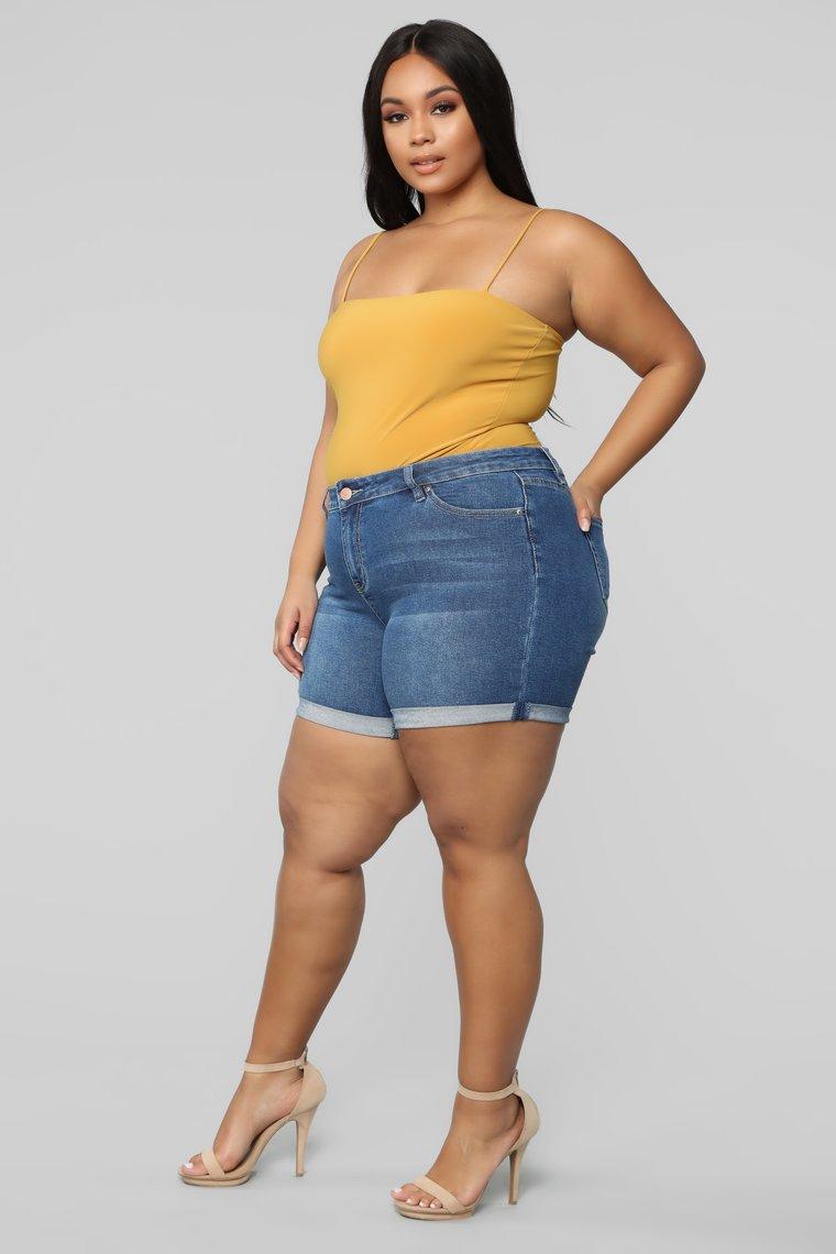 Shorts en Jean grande taille femme