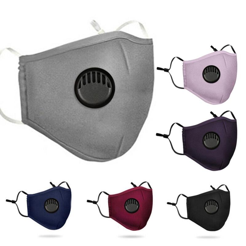 Masque en coton réutilisable avec Valve respiratoire et emplacement filtres