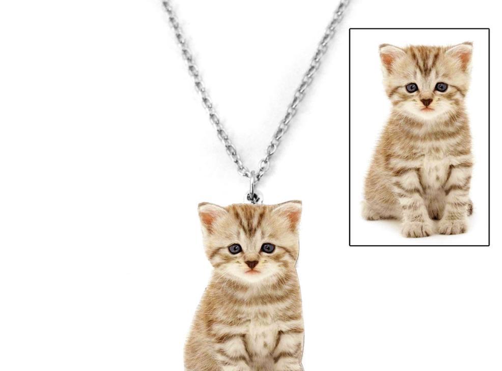 collier avec pendentif photo personnalisé pour animaux de compagnie