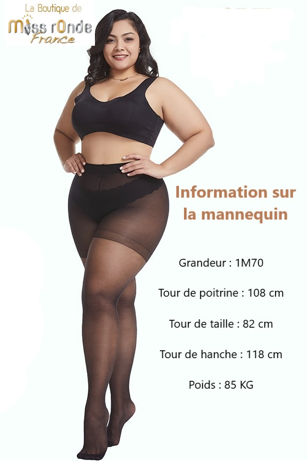 collant grande taille miss ronde information mannequin