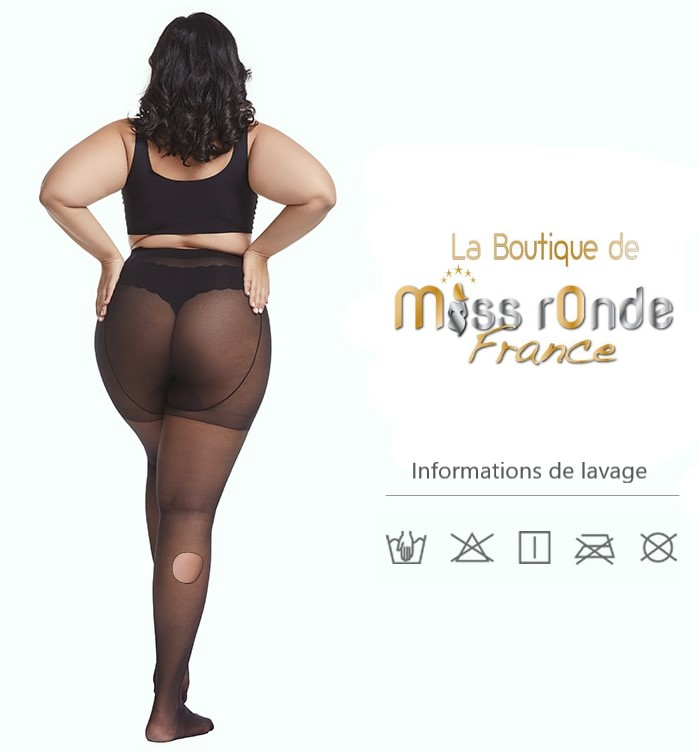 collant grande taille miss ronde information lavage