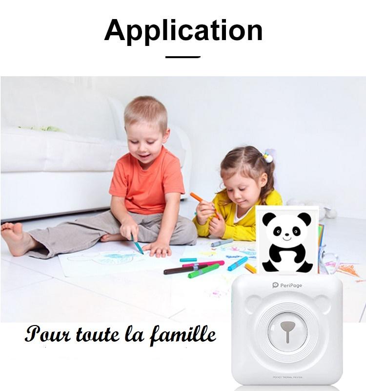 Mini imprimante portable thermique pour smartphone familiale
