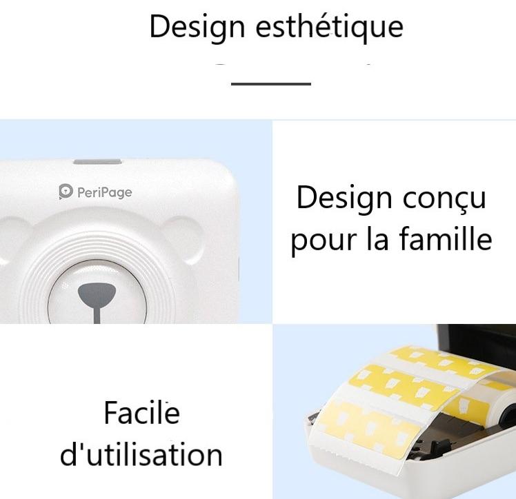 Mini imprimante portable thermique pour smartphone design