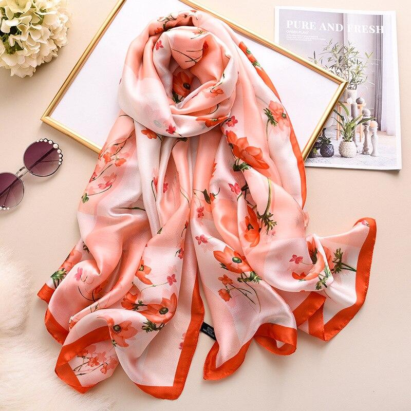 foulard en soie naturelle