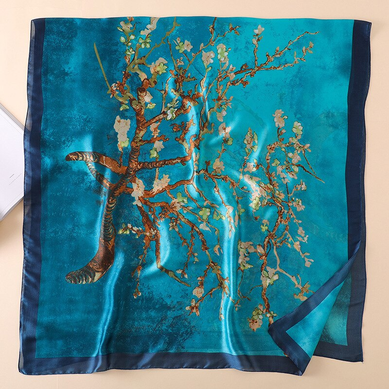 foulard en soie naturelle van gogh