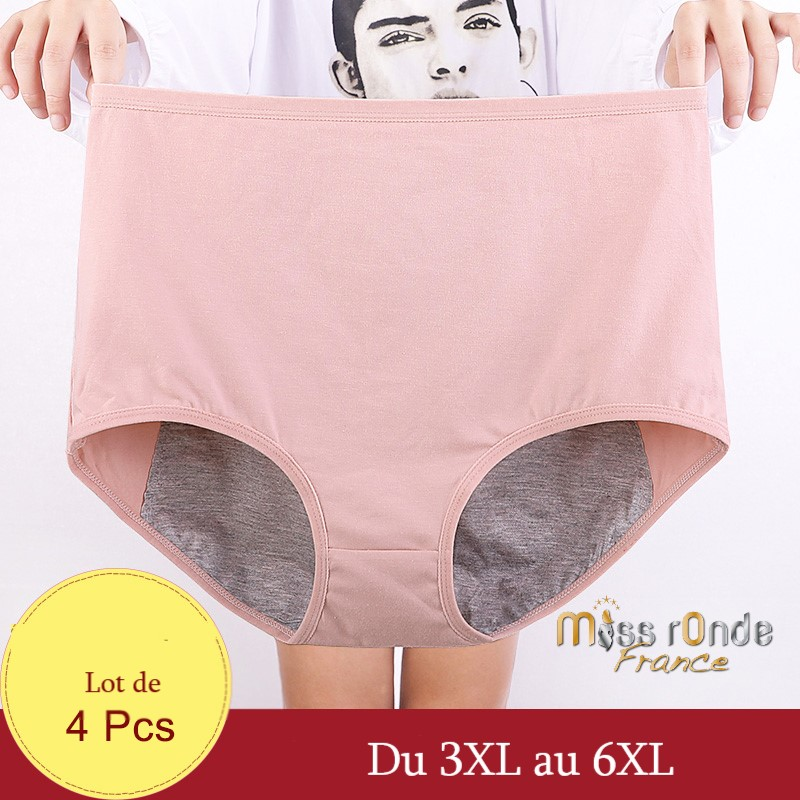 La culotte menstruelle grande taille du 3XL au 8XL pour la nuit