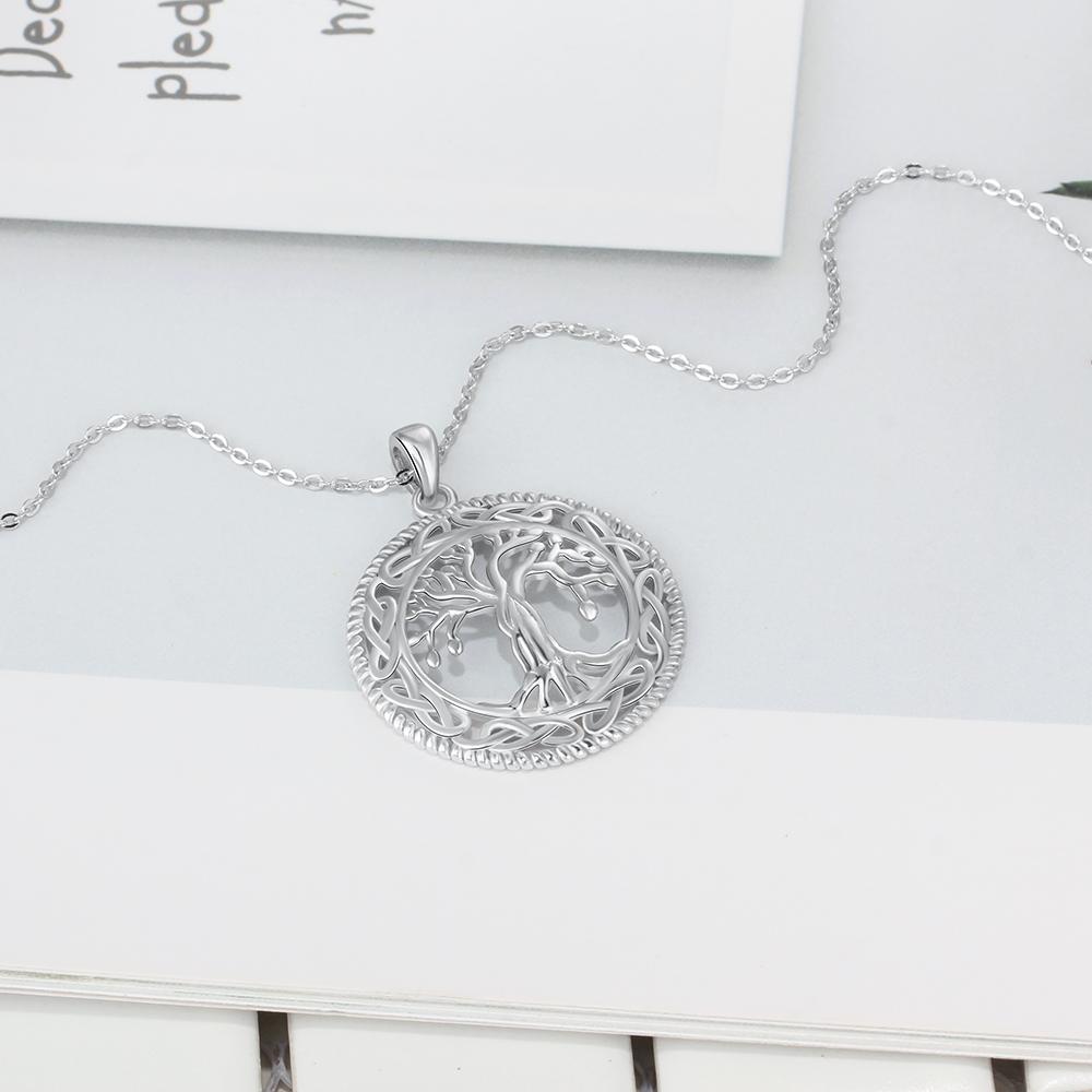 54586e9c4be6e Collier Arbre de Vie Grand Pendentif Bijoux 925 Sterling Argent ...