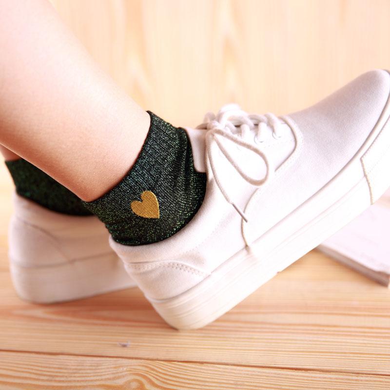 Chaussettes cœur de différentes couleurs