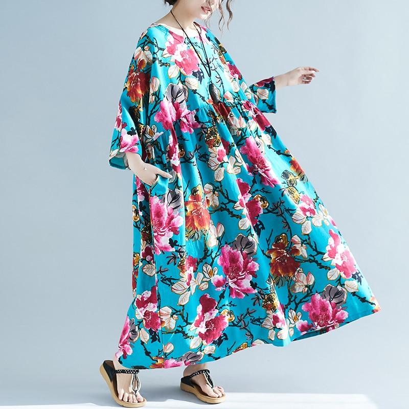 Robes Boho d\'été grande taille du L au 7 XL