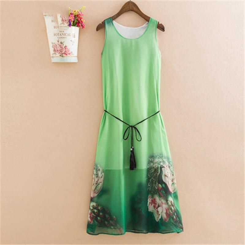 robe en mousseline de soie sans manches XL au 5XL