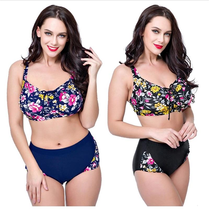 Bikini grande taille motif floral du 4XL au 8XL