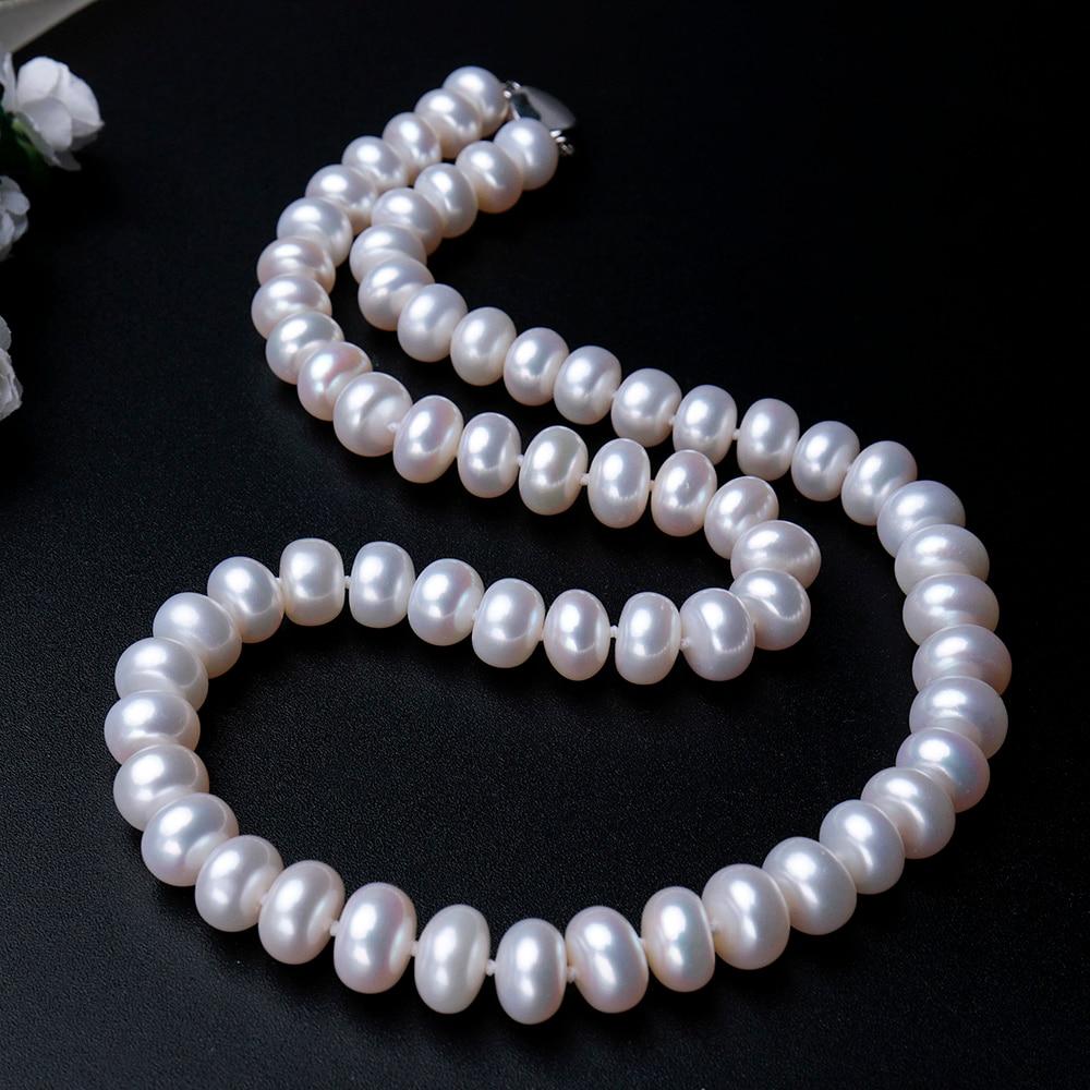 collier de perles naturel d\'eau douce haute qualité longueur 45 cm 3 couleurs 8-9mm