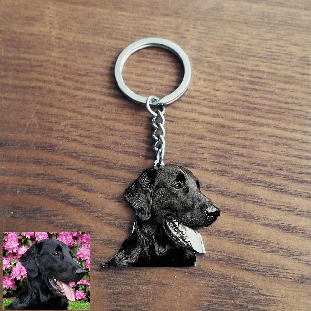 porte-clés photo personnalisé pour animaux de compagnie