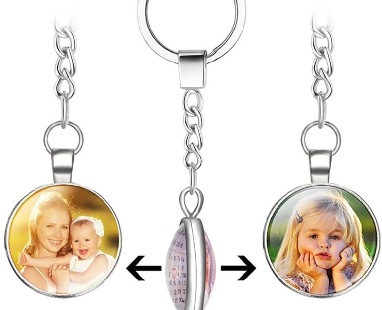 Porte-clés personnalisé Photos et Calendrier a la date que vous désirez