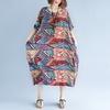 Robe-grande-taille-pour-femmes-4XL-5XL-6XL-7XL-Vintage-imprim-tunique-r-tro-grande-taille
