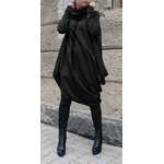 VONDA-chaud-couleur-unie-robe-d-hiver-d-contract-manches-longues-col-roul-sweat-shirts-pull