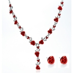 Rose-fleur-collier-mariage-strass-mode-collier-boucles-d-oreilles-ensembles-mariage-mari-e-bijoux-ensemble
