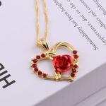 Collier-cr-atif-Zircon-Roses-rouges-pendentif-romantique-en-forme-de-coeur-court-paragraphe-clavicule-Chai