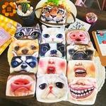 Vilain-blague-masques-dr-le-Expression-cochon-inf-rieur-demi-visage-coton-visage-masque-f-te