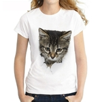 Charmed-3D-chat-imprimer-d-contract-Harajuku-femmes-T-Shirt-t-manches-courtes-d-contract-col