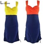 Robes et maillots de bain, grande taille2 en 1. Cette robe de bain se change rapidement en maillot de bain.