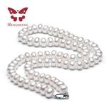 Blanc-Naturel-D-eau-Douce-Collier-de-Perles-Pour-Les-Femmes-8-9mm-Collier-Perles-Bijoux