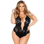 Femme-voir-travers-noir-bourgeon-de-soie-gaze-Sexy-chemise-de-nuit-grande-taille-S-4xl