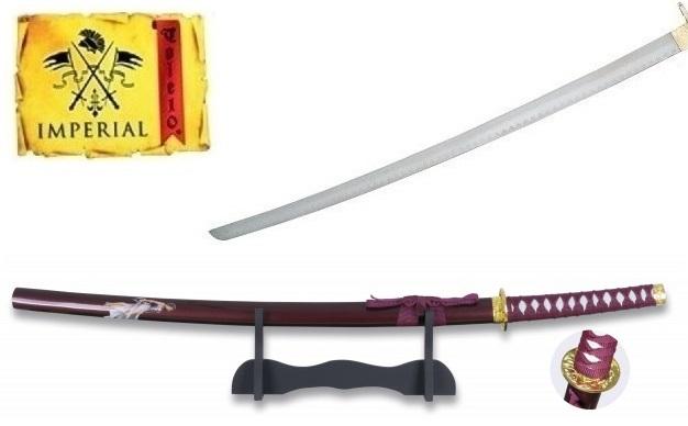 Katana arme 92,5cm + socle déco - Design guerrière